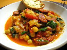 Stew with Spanish chorizo
