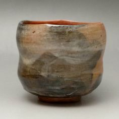 Vintage Japanese Raku Pottery Tea Bowl #1383 - CHANOYU