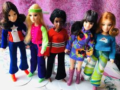 70s World of Love dolls by Hasbro. Peace, Love, Soul, Music and Flower #worldoflove #70sdolls #lovedolls