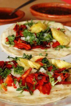 "Los famosos tacos mexicanos ""al pastor"" so good - Tacos Ideen Real Mexican Food, Famous Mexican, Mexican Pork Recipes, I Love Food, Good Food, Tacos Mexicanos, Best Mexican Restaurants, Mexican Tacos, Cooking Recipes"