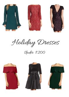 Holiday Dresses Under $200