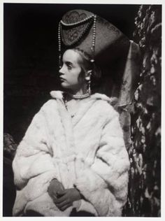 Photo of Angelica Bell, daughter of Vanessa Bell and niece of Virginia Woolf, in costume as the Russian Princess from Woolf's novel Orlando.