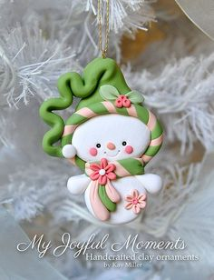 Handcrated Clay Ornament by kay miller