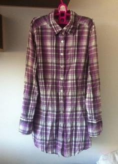 Kup mój przedmiot na #vintedpl http://www.vinted.pl/damska-odziez/inne-ubrania/10026626-koszula-w-kratke-fioletowa
