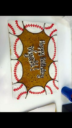 Baseball cookie cake