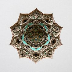 3D Laser Cut Paper Art by Eric Standley / Sacred Geometry <3