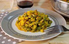 Un arroz con habas tiernas que queda riquísimo y que podéis ver en mi blog Julia y sus recetas.