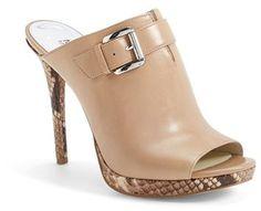 MICHAEL Michael Kors 'Isabella' Snake-Embossed Leather Platform Mule Sandal (Women)