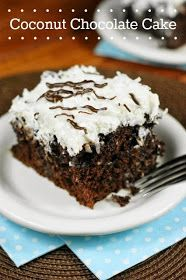 The Kitchen is My Playground: Coconut Chocolate Cake {with Coconut Whipped Cream Frosting}