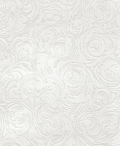 A circular swirling wave effect textured blown vinyl wallpaper. Created white and designed to be painted, a simple but effective way to add texture to a wall. Please request sample for true pattern and colour. Leopard Wallpaper, White Wallpaper, Vinyl Wallpaper, Fabric Wallpaper, Pattern Wallpaper, Paintable Textured Wallpaper, Ceiling Texture, Swirl Pattern, Texture Painting