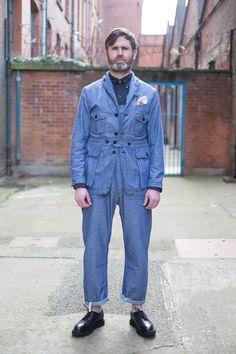 Bureau Belfast and Engineered Garments (https://www.thebureaubelfast.com/shop/3662/blue-dungaree-cloth-ghurka-jacket)
