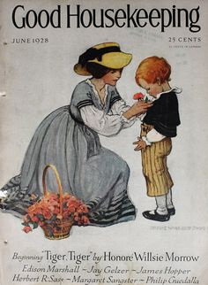 "This one is titled ""Sweet Roses"" and was used on the cover of Good Housekeeping magazine in July 1923. Description from pinterest.com. I searched for this on bing.com/images"