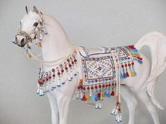 Hand Embroidered Bedouin Saddle for Model Horses
