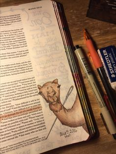 Mark 10:25. Sherrie Bronniman - Art Journaling: In My Bible