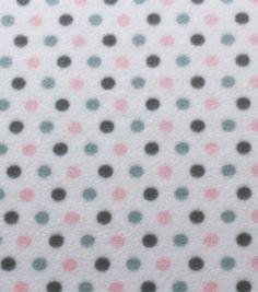 Blizzard Fleece Fabric - Baby Dots Girl