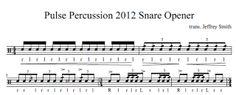 indoor drumline sheet music winter percussion snare drum solo