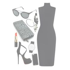 """""""Promenade"""" by mode-222 ❤ liked on Polyvore featuring Zimmermann, RetroSuperFuture, Christian Louboutin, Gooey, Skagen, Aesop, Jacquie Aiche and Bobbi Brown Cosmetics"""
