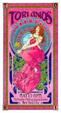 tori amos gig posters   Bob Masse's 1990's rock and roll art and concert posters