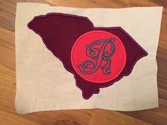 South Carolina Monogram Applique: Miss Mary's Embroidery
