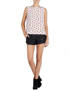 Love this adorable cherry top from @Equipment