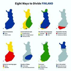 Post with 3240 votes and 167837 views. Tagged with finland, suomi finland perkele, i dont think finland even exists; Shared by Ransu. Eight ways to divide Finland Lappland, Finnish Memes, Meanwhile In Finland, Finland Map, Funny Maps, Finnish Language, Talking Animals, Map Skills, Geography