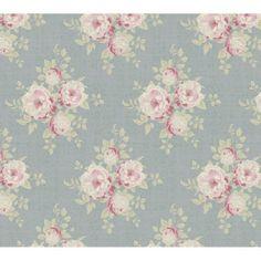 Tilda All That is Spring Fabric Fat Quarter - Ella Bluegrey
