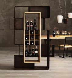 Acquista on-line Mooie By elite to be, libreria in ferro, Collezione eno Shelf Design, Cabinet Design, Deco Restaurant, Wine Shelves, Home Bar Designs, Ikea Storage, Wine Cabinets, Design Furniture, Bar Furniture