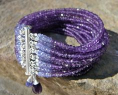 Amethyst and Tanzanite MultiStrand Beaded by TeeceTorreJewelry, $390.00 - gorgeous