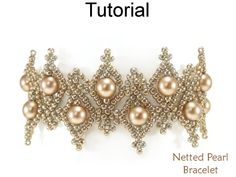 Beading Tutorials and Patterns - Beaded Bracelet - Netting Stitch - Simple Bead Patterns - Netted Pearl Bracelet #25803 by SimpleBeadPatterns on Etsy https://www.etsy.com/listing/558147807/beading-tutorials-and-patterns-beaded