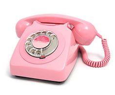 pink rotary phone