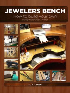 The Book is a richly illustrated handbook for those who want to build their own Jewelers bench. The following are some of the main sections of the book: • Inspiration and design. • Tool requirements. • Material requirements. • Selecting the timber. • Preparing the timber. • Measure and cutting all components. • Assembly of frame, tabletop, drawer cabinets and drawers. • Building the table top storage unit. • Building the Side table with cabinet and storage unit. • Finishing of all components…