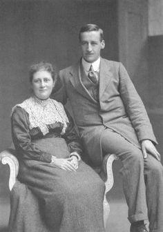 Another photo of Beatrix Potter with her husband William Heelis.