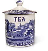 Spode - Blue Italian Canister Tea