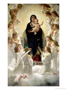 The Virgin with Angels, 1900 Giclee Print by William Adolphe Bouguereau at Art.com