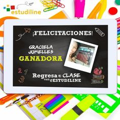 Felicidades Graciela!  ganadora del #RegresoaClasesconEstudiline - Que lo disfrutes!! #OceanoRD #RegresoaClases #Estudiline #Elearning #UneteAlaConversación #BackToSchool