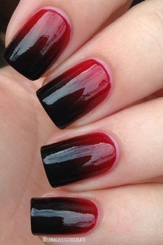 DIY Halloween nail art so good you may forgoe the costume all together. Pictured: Sinister Sombré