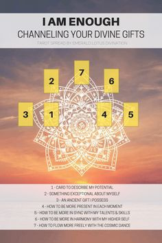 Channeling your divine gifts I am enough free tarot spread (1)
