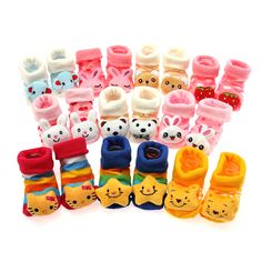 Cartoon Baby Socks Anti Slip Cotton With Animal Unisex Slipper Shoes Newborn