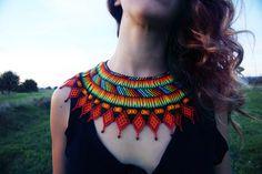 Handmade Colombian Native Necklace por CultureOfHands en Etsy