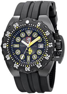 luminox men s 1525 black polyurethane automatic watch with black rh pinterest com