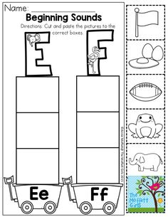 Beginning Sound Sort- Practice letter recognition, cutting skills, and pasting.