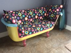 Cast iron tub couch