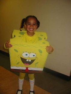 Spongebob costume little girl  http://barnaclebill.hubpages.com/hub/spongebobhalloweencostumesdesignstutorialtips