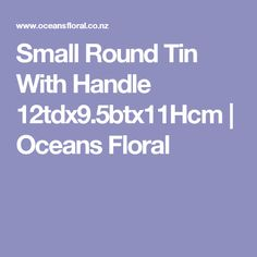 Small Round Tin With Handle 12tdx9.5btx11Hcm   Oceans Floral
