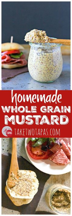 Getting tired of buying mustard? Make your own! It's simple and you can add your own flavors! Customize your own condiments to match your menu! Homemade Whole Grain Mustard Recipe   Take Two Tapas