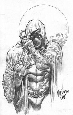 Moon Knight by Mico Suayan Comic Book Artists, Comic Book Characters, Comic Book Heroes, Comic Artist, Marvel Characters, Comic Character, Comic Books Art, Marvel Comics Art, Marvel Heroes