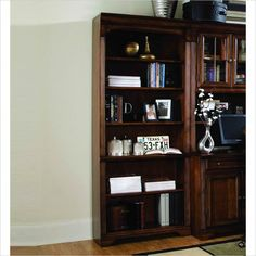 Hooker Furniturer Brookhaven Tall Bookcase in Distressed Clear Cherry - 281-10-422 - Lowest price online on all Hooker Furniturer Brookhaven Tall Bookcase in Distressed Clear Cherry - 281-10-422