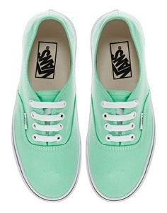1986da323e Vans Authentic Classic Mint Sneakers Baskets Vertes