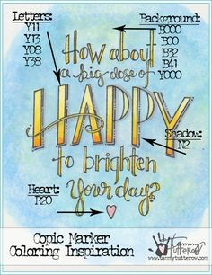 Copic Coloring Inspiration: Big Dose of Happy http://tammytutterow.com/2016/09/coloring-inspiration-big-dose-of-happy/