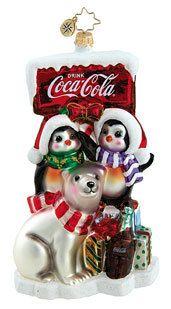 Better on Ice Christopher Radko Coca Cola Ornament | eBay